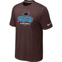Nike Carolina Panthers Big & Tall Critical Victory NFL T-Shirt Brown