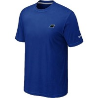 Nike Carolina Panthers Chest Embroidered Logo T-Shirt Blue