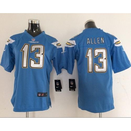e10df50fe9 Nike Chargers  13 Keenan Allen Electric Blue Alternate Women s Stitched NFL  New Elite Jersey