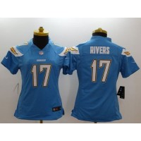 Nike Chargers #17 Philip Rivers Electric Blue Alternate Women's Stitched NFL New Limited Jersey