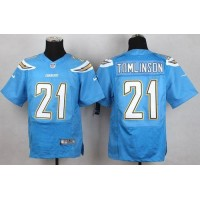 Nike Chargers #21 LaDainian Tomlinson Electric Blue Alternate Men's Stitched NFL New Elite Jersey
