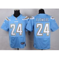 Nike Chargers #24 Brandon Flowers Electric Blue Alternate Men's Stitched NFL New Elite Jersey