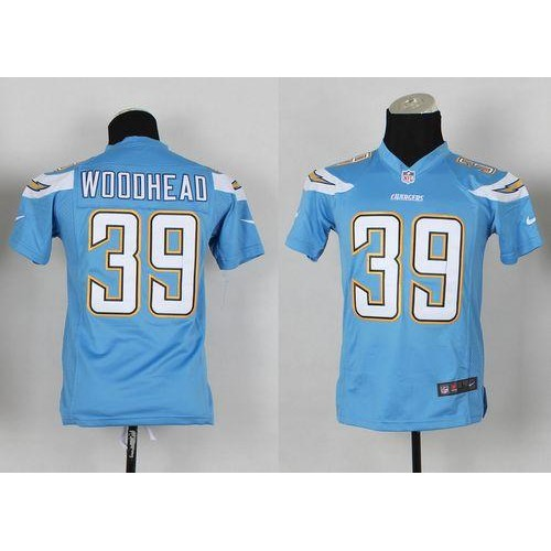 54c988241 Nike Chargers  39 Danny Woodhead Electric Blue Alternate Youth Stitched NFL  New Elite Jersey