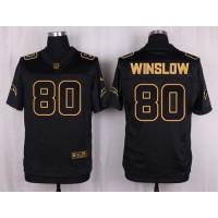 Nike Chargers #80 Kellen Winslow Black Men's Stitched NFL Elite Pro Line Gold Collection Jersey