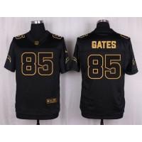 Nike Chargers #85 Antonio Gates Black Men's Stitched NFL Elite Pro Line Gold Collection Jersey