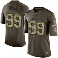 Nike Chargers #99 Joey Bosa Green Men's Stitched NFL Limited Salute to Service Jersey