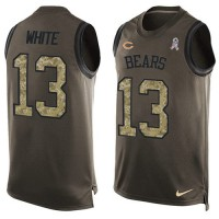 Nike Chicago Bears #13 Kevin White Green Men's Stitched NFL Limited Salute To Service Tank Top Jersey