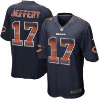 Nike Chicago Bears #17 Alshon Jeffery Navy Blue Team Color Men's Stitched NFL Limited Strobe Jersey