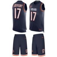 Nike Chicago Bears #17 Alshon Jeffery Navy Blue Team Color Men's Stitched NFL Limited Tank Top Suit Jersey