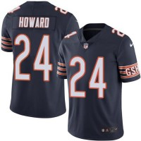 Nike Chicago Bears #24 Jordan Howard Navy Blue Men's Stitched NFL Limited Rush Jersey