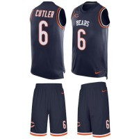 Nike Chicago Bears #6 Jay Cutler Navy Blue Team Color Men's Stitched NFL Limited Tank Top Suit Jersey