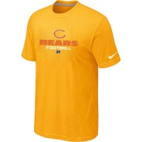 Nike Chicago Bears Big & Tall Critical Victory NFL T-Shirt Yellow