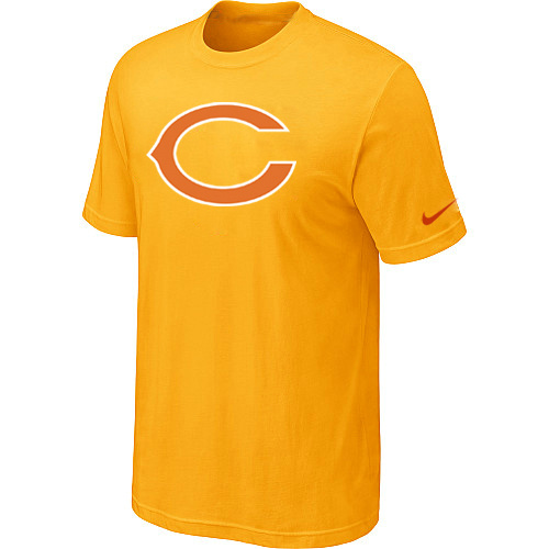 Nike Chicago Bears Sideline Legend Authentic Logo Dri-FIT NFL T-Shirt Yellow 50d322e19