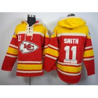 Nike Chiefs #11 Alex Smith Red Sawyer Hooded Sweatshirt NFL Hoodie