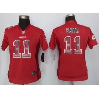 Nike Chiefs #11 Alex Smith Red Team Color Women's Stitched NFL Elite Strobe Jersey