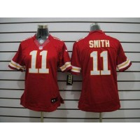 Nike Chiefs #11 Alex Smith Red Team Color Women's Stitched NFL Limited Jersey