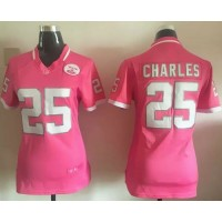 Nike Chiefs #25 Jamaal Charles Pink Women's Stitched NFL Elite Bubble Gum Jersey
