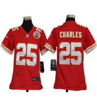 Nike Chiefs #25 Jamaal Charles Red Team Color Youth Stitched NFL Elite Jersey