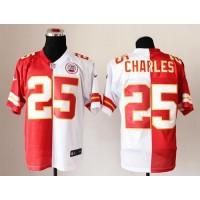 Nike Chiefs #25 Jamaal Charles RedWhite Men's Stitched NFL Elite Split Jersey