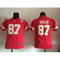 Nike Chiefs  87 Travis Kelce Red Team Color Youth Stitched NFL Elite Jersey 56a2a7a58