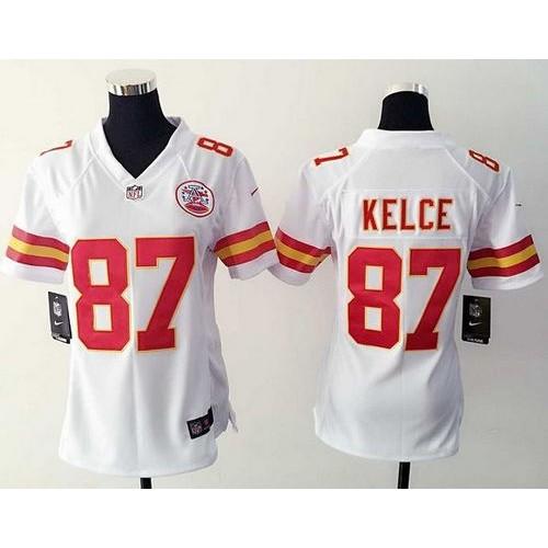 Nike Chiefs  87 Travis Kelce White Women s Stitched NFL Elite Jersey 98cc70883