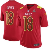 Nike Cincinnati Bengals #18 A.J. Green Red Men's Stitched NFL Game AFC 2017 Pro Bowl Jersey