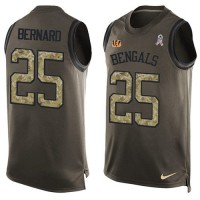 Nike Cincinnati Bengals #25 Giovani Bernard Green Men's Stitched NFL Limited Salute To Service Tank Top Jersey