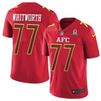 Nike Cincinnati Bengals #77 Andrew Whitworth Red Men's Stitched NFL Limited AFC 2017 Pro Bowl Jersey