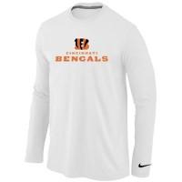 Nike Cincinnati Bengals Authentic Logo Long Sleeve T-Shirt White