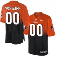 Nike Cincinnati Bengals Customized OrangeBlack Men's Stitched Elite Fadeaway Fashion NFL Jersey