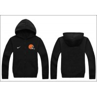 Nike Cleveland Browns Authentic Logo Hoodie Black