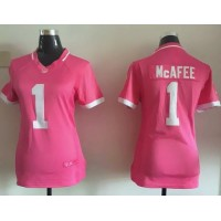 Nike Colts #1 Pat McAfee Pink Women's Stitched NFL Elite Bubble Gum Jersey
