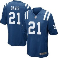 Nike Colts #21 Vontae Davis Royal Blue Team Color Youth Stitched NFL Elite Jersey