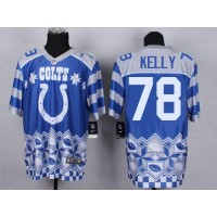 Nike Colts #78 Ryan Kelly Royal Blue Men's Stitched NFL Elite Noble Fashion Jersey
