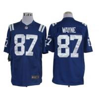 Nike Colts #87 Reggie Wayne Royal Blue Team Color Men's Stitched NFL Limited Jersey