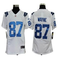 Nike Colts #87 Reggie Wayne White Youth Stitched NFL Elite Jersey
