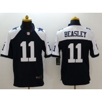 Nike Cowboys #11 Cole Beasley Navy Blue Thanksgiving Throwback Men's Stitched NFL Limited Jersey