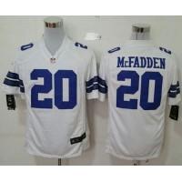 Nike Cowboys #20 Darren McFadden White Men's Stitched NFL Game Jersey