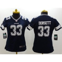 Nike Cowboys #33 Tony Dorsett Navy Blue Team Color Women's Stitched NFL Limited Jersey