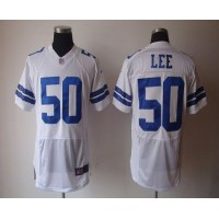 Nike Cowboys #50 Sean Lee White Men's Stitched NFL Elite Jersey