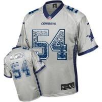 Nike Cowboys #54 Randy White Grey Men's Stitched NFL Elite Drift Fashion Jersey