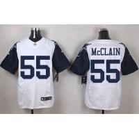 Nike Cowboys #55 Rolando McClain White Men's Stitched NFL Elite Rush Jersey