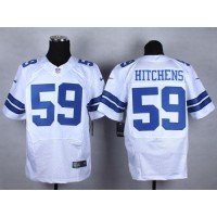 Nike Cowboys #59 Anthony Hitchens White Men's Stitched NFL Elite Jersey