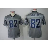Nike Cowboys #82 Jason Witten Grey Shadow Youth Stitched NFL Elite Jersey