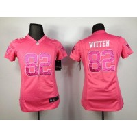 Nike Cowboys #82 Jason Witten Pink Sweetheart Women's Stitched NFL Elite Jersey