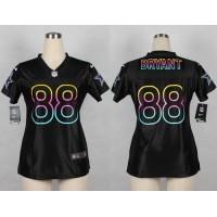 Nike Cowboys #88 Dez Bryant Black Women's NFL Fashion Game Jersey
