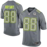 Nike Cowboys #88 Dez Bryant Grey Pro Bowl Men's Stitched NFL Elite Team Sanders Jersey