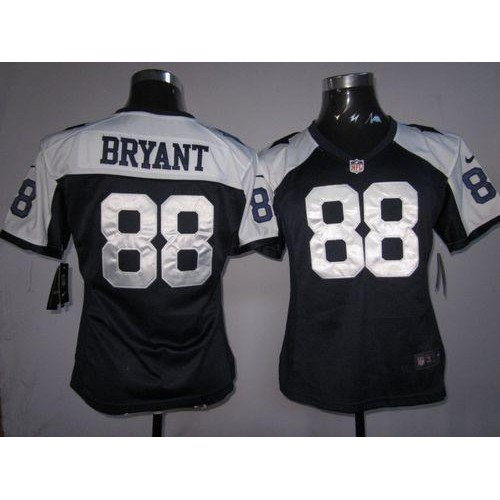 182248f3a Nike Cowboys  88 Dez Bryant Navy Blue Thanksgiving Women s Throwback  Stitched NFL Elite Jersey