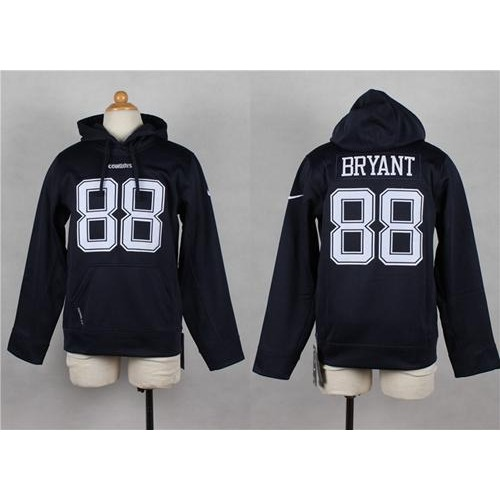sale retailer 2a931 80106 Nike Cowboys #88 Dez Bryant Navy Blue Youth Pullover NFL Hoodie