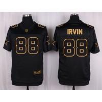 Nike Cowboys #88 Michael Irvin Black Men's Stitched NFL Elite Pro Line Gold Collection Jersey